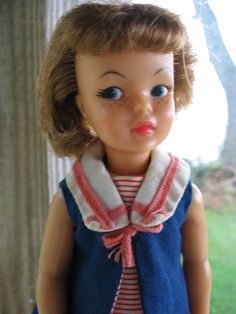 Vintage 1960s Pepper Doll With Sailor outfit and shoes by tessimal, $26.00
