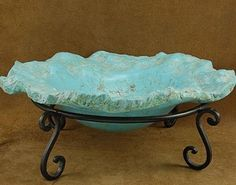This Turquoise bowl boasts a highly realistic and vibrant Turquoise blue color with a dazzling matrix. The edge is artfully rendered to match the natural nugget formations of Turquoise. Even a pro can't tell the difference. This Turquoise bowl is the perfect piece for any southwestern home. It would look great as a centerpiece on the coffee table, or out in the garden as a bird bath. The possibilities for this Turquoise bowl are as limitless as your imagination. $2,300.00 #Alltribes