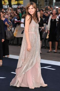Angelina Jolie   August 2010  In an Amanda Wakeley dress and Salvatore Ferragamo shoes at the London premiere of Salt.