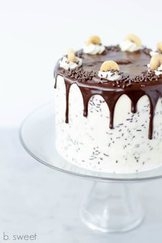 Cake design by Sweetly Cakes. Cake design by Cake Ink. Cake design by The First Year. Cake design by Don't Tell Charles. Cake design by B Sweet Dessert Boutique. Cake d. Chocolate Drip Cake, Dark Chocolate Cookies, Chocolate Marshmallows, Chocolate Flavors, Chocolate Ganache, Cupcakes, Cupcake Cakes, Banoffee Cake, Moist Apple Cake