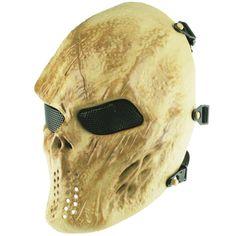 b20c1ea89fc QIAOMENG Airsoft Masks Skull Full Face Tactical Mask Metal Mesh Eye  Protection for BB Gun Tactical