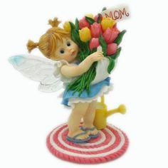 My Little Kitchen Fairies - Mother's Day Tulips Fairy Figurine - http://cutefigurines.net/my-little-kitchen-fairies/my-little-kitchen-fairies-mothers-day-tulips-fairy-figurine/