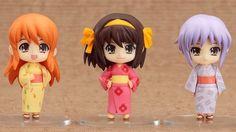 Amazon.com: The Melancholy of Haruhi Suzumiya set figurines Nendoroid Petite: Toys & Games