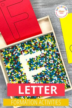 Teach kids correct letter formation with these fun, hands-on activities. Better than a worksheet, use these printable letter cards for engaging alphabet activities. Teach your preschool and pre-k kids how to build uppercase and lowercase letters with proper formation (includes a dot as a visual cue fo the starting point). Find 20 different ideas to use these little letter sheets to teach the basic skills that will help your kids with handwriting letters. Teaching Letters, Preschool Letters, Preschool Learning Activities, Alphabet Activities, Language Activities, Hands On Activities, Literacy Activities, Teaching Kids, Phonemic Awareness Activities