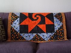 Halloween Lap Quilt/ Table Cover by PatsysPatchwork on Etsy, $50.00