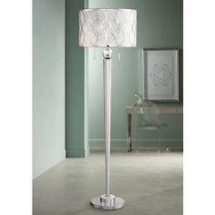 Possini Euro Spyra Brushed Steel Metal Floor Lamp Contemporary Floor Lamps, Modern Floor Lamps, Torchiere Floor Lamp, Luxury Lighting, Modern Lighting, Metal Floor, Lamp Design, Euro, Steel Metal