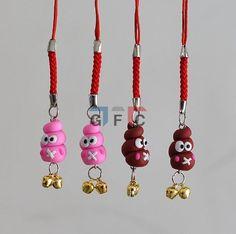 Mini Stool Shape Polymer Clay Charm Beads Fit Key Chain Ring Phone Chain