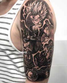 20 Super Ideas For Tattoo Dragon Ball Ink Dragonball Z Z Tattoo, Tattoo Off, Body Art Tattoos, Sleeve Tattoos, Cool Tattoos, Tatoos, Gaara Tattoo, Tattoo Jiu Jitsu, Dbz