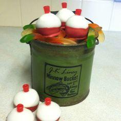 fish birthday cake | Birthday Party Ideas - Fishing / Fishing bobber cake pops