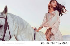www.pegasebuzz.com | Anastasia Laguna and Taya Ermoshkina by Boe Marion for BCBG Max Azria, spring 2015.