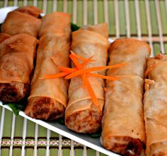 Authentic Vietnamese Spring Rolls (Nem Ran Hay Cha Gio) - The authentic version of cha gio is made with pork. The chicken in this recipe resulted with dry textured rolls. #AllrecipesFaceless #AllrecipesAllstars #MyAllrecipes
