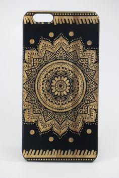 iPhone 6+ Mandala Slim Black Wood Case