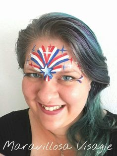 fourth of july makeup face paintings Face Painting Tips, Face Painting For Boys, Face Painting Designs, Body Painting, Face Paintings, Blue Face Paint, 4th Of July Makeup, Kids Makeup, Cute Faces