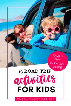 You CAN have fun in the car on your road trip! Use our tips and road trip activities for kids. Games and tips to make the family road trip feel quicker and definitely more fun. What to pack for the road trip and plan the drive. Road Trip With Kids, Family Road Trips, Travel With Kids, Family Travel, Family Vacations, Car Trip Activities, Road Trip Games, Summer Activities, Family Activities
