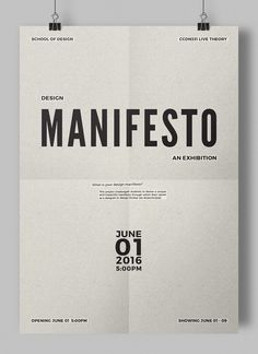 Design Manifesto: An Exhibition on Behance