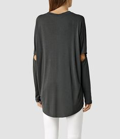 Womens Wave Top (Dark Charcoal) - product_image_alt_text_3