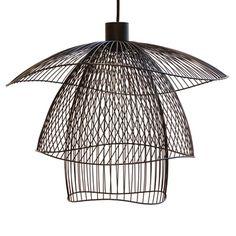 Suspension papillon pm noir #papillon #forestier #light #design #elisefouin