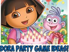 DIY Dora Birthday Party Games ! Unique, original ,and FUN! (balance an egg obstacle or large puzzle piece scavenger hunt).
