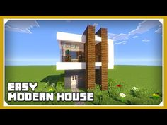 Minecraft: How To Build A Small Modern House Tutorial 2 (Easy Survival Minecraft House ) Easy Minecraft Houses, Minecraft Modern, Minecraft City, Minecraft Construction, Minecraft Blueprints, Minecraft Creations, Minecraft Projects, Minecraft Stuff, Minecraft Ideas