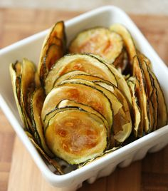Zucchini Chips -(Phase 1-4) 3 medium zucchini, sliced into 1/4-inch chips 2 Tbsp. lemon juice 2 Tbsp. olive oil 1 teaspoon sea salt, pepper to taste *Phase 3 and 4 you can add 2 oz. grated parmesan cheese. Preheat oven to 450°F. Toss zucchini slices with lemon juice, olive oil, salt and pepper. Spread out on in a single layer on a jelly roll pan. Roast 7 minutes. Turn zucchini over. Roast another 7-8 minutes.