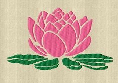 Water lily digital embrodery pattern
