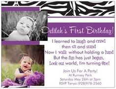 my finished product! i LOVE her 1st bday invitations! i did a good job! lol