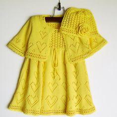 Handmade Spring Dresses For Girls - Kindermode Knitting For Kids, Crochet For Kids, Crochet Baby, Baby Dress Patterns, Baby Knitting Patterns, Skirt Patterns, Coat Patterns, Blouse Patterns, Sewing Patterns
