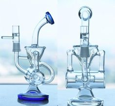 Decorations Reanice glass water ice bong simple straight smoking bubbler pipes 14.5mm h:30cm Firm In Structure