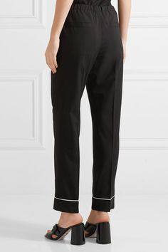 Prada - Wool Straight-leg Pants - Black - IT38