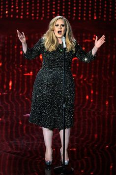 Adele performs during the Oscars