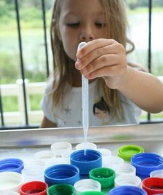 Bottle Cap Fine Motor Activity