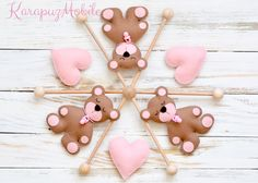 Baby+crib+mobile,+teddy+bear+mobile,+felt+mobile+von+KarapuzMobile+auf+DaWanda.com
