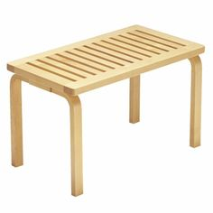 Artek Alvar Aalto Bench These solid birch benches were designed by Alvar Aalto in They are available in two sizes and can easily fit in an entryway, create patio seating in a backyard or act as a casual living room tabl. Bench Furniture, Plywood Furniture, Modern Furniture, Furniture Design, Plywood Cabinets, Alvar Aalto, Wall Bench, Chair Bench, Nordic Design