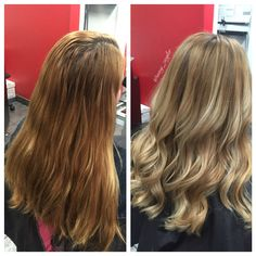 Before & After Blonde Ombre/Balayage by @amy_ziegler