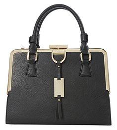 40a42ee8974f DUNE Diana Structured metal-framed handbag. Summer Tote BagsSummer  PursesBlack ...