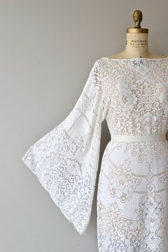Boheme Lace dress vintage 1970s bohemian lace by DearGolden