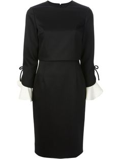 Shop Valentino contrast cuff pencil dress in Stivali from the world's best independent boutiques at farfetch.com. Over 1000 designers from 60 boutiques in one website.