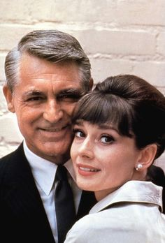 Cary Grant and Audrey Hepburn.