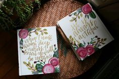 Beautiful hand painted Hosanna Revival bibles