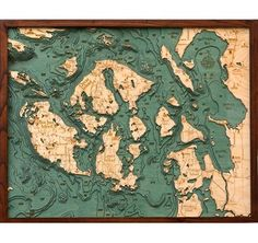 Need something amazing for your wall? This woodchart is a local fave also available: Puget Sound or Salish Sea