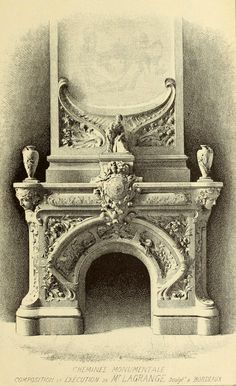 Design for a monumental fireplace, Bordeaux