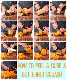 How to Peel and Cube a Butternut Squash | http://www.eatyourbeets.com/kitchen-tips/how-to-peel-and-cube-a-butternut-squash/
