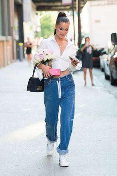 The Back of Bella Hadid's Sexy White Button-Down Is All You Need to See