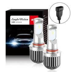 E Seoul LED CSP 72W 8000LM 6000K White Kit Headlight High Beam Bulbs 9005 HB3