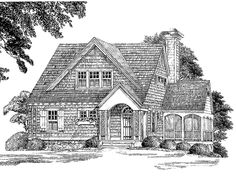 Shingle House Plan with 1802 Square Feet and 3 Bedrooms from Dream Home Source | House Plan Code DHSW55466