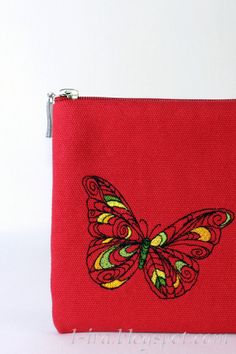 Embroidered Clutch / Purse / Bag / Pouch by LIraCraft on Etsy, $47.00