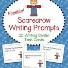 FREE Scarecrow Writing Prompts Task Cards - 20 Writing Center Activity Cards