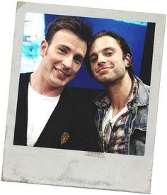 Chris and Sebastian. Cap and Bucky.