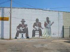 Mississippi Delta Blues mural in Clarksdale, MS