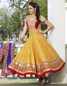Elegant Golden Yellow #SalwarKameez traditional wear shop now from #craftshopsindia